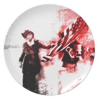 Votes For Her Melamine Plate