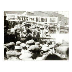 Votes for Women, August 1908 Postcard at Zazzle