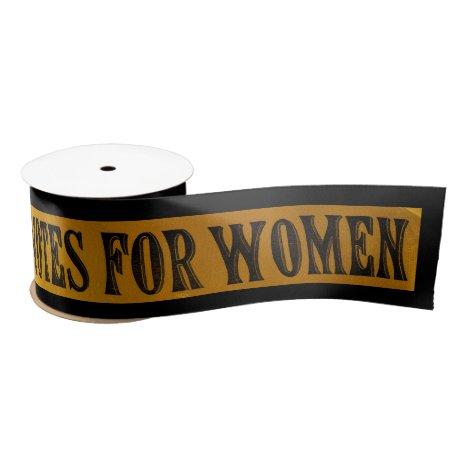 Votes for Women Ribbon Suffragettes Banner Vintage