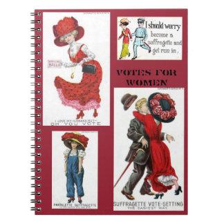 Votes for Women Suffragettes Art Vintage Notebook