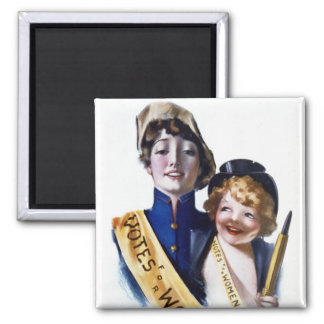 Votes for Women - Women's Suffrage, 1915 2 Inch Square Magnet