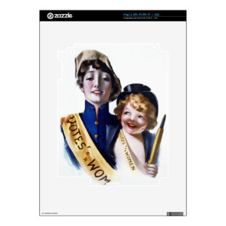 Votes for Women - Women's Suffrage, 1915 Skins For The iPad 2