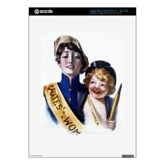 Votes for Women - Women's Suffrage, 1915 Skin For iPad 3