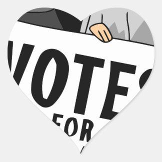 votes heart sticker