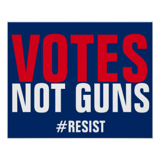 Votes Not Guns Resist Poster