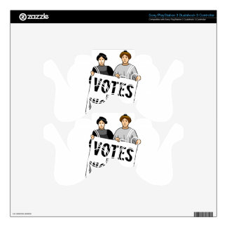 votes PS3 controller decal