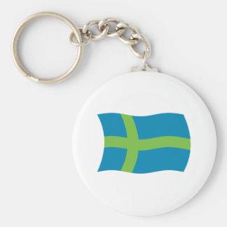 Votic People Flag Keychain