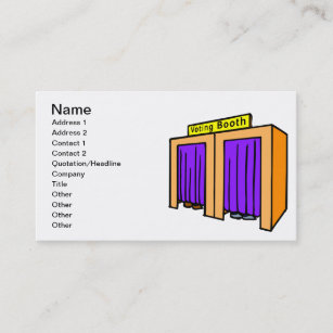 Booth business cards templates zazzle voting booth business card reheart Image collections