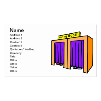 Voting Booth Business Card