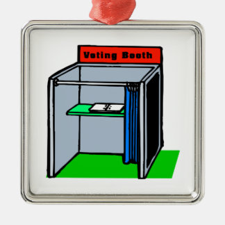 Voting Booth Metal Ornament