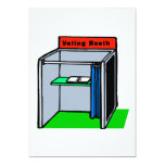 Voting Booth Personalized Invitations