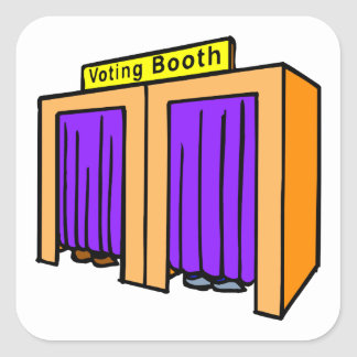 Voting Booth Square Sticker