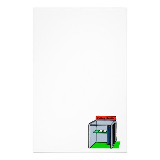 Voting Booth Stationery