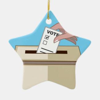 Voting Box Ceramic Ornament
