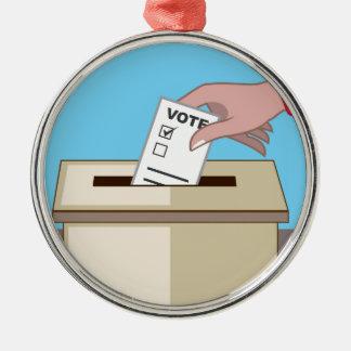 Voting Box Metal Ornament