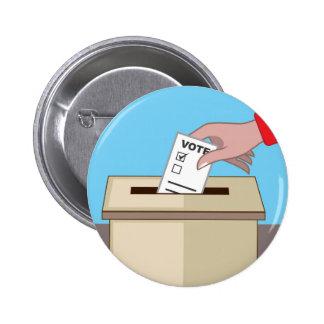 Voting Box Pinback Button