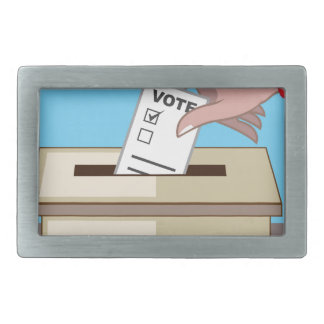 Voting Box Rectangular Belt Buckle