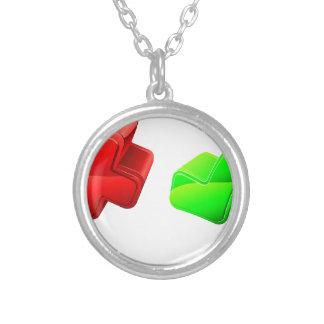 Voting concept round pendant necklace