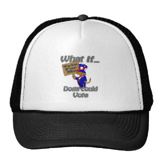 Voting dogs trucker hat