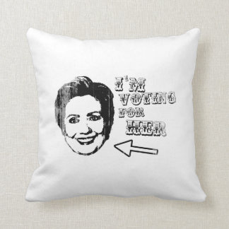 Voting for her - Faded.png Pillow