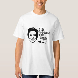 Voting for her Politiclothes Humor -.png T-Shirt