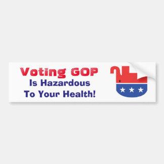 Voting GOP is Hazardous Bumper Sticker