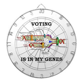 Voting Is In My Genes (DNA Replication) Dartboard