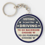 Voting is Just Like Driving Basic Round Button Keychain