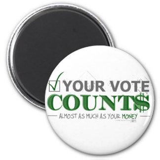 Voting 2 Inch Round Magnet