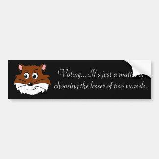 Voting - Picking the lesser of 2 evils Bumper Sticker
