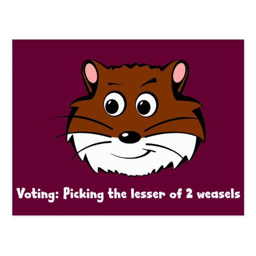 Voting - Picking the lesser of 2 evils Postcard