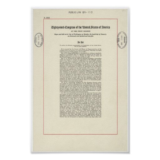 Voting Rights Act of 1965 Poster