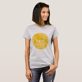 Voting Shows Your Character -- Gold & White T-Shirt