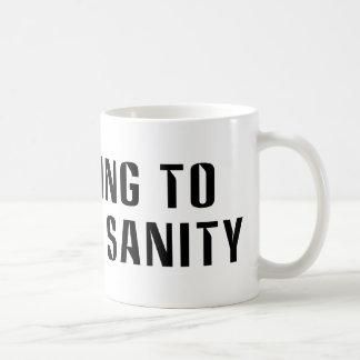 Voting To  Restore Sanity Bumper Sticker Sized Coffee Mug