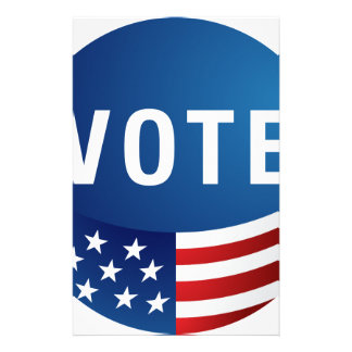 Voting USA American Icon Round Button Stationery