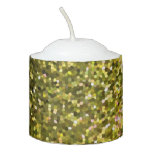 Votive Candle Gold Mosaic Sparkley Texture