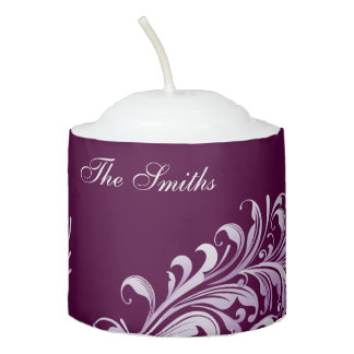 Votive Candle - Swirl on Purle