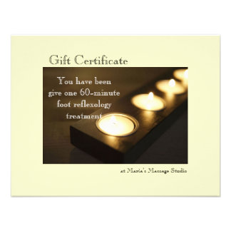 Votive Candles Gift Certificate Custom Announcement