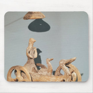 Votive chariot with an anthropomorphic divinity mouse pad