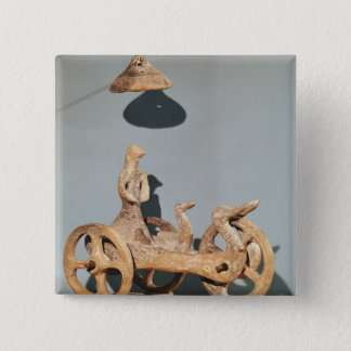 Votive chariot with an anthropomorphic divinity pinback button