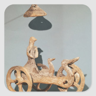 Votive chariot with an anthropomorphic divinity square sticker