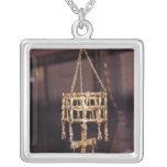 Votive crown of a Visigoth king Square Pendant Necklace