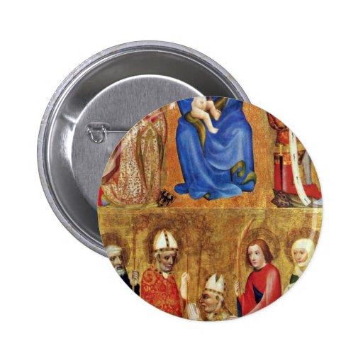 Votive Image Of The Prague Archbishop John Ocko Of Pinback Buttons