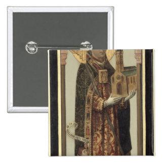 Votive Panel Depicting St. Ansgar, 1457 2 Inch Square Button