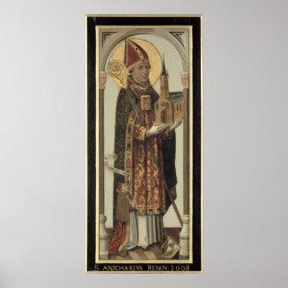 Votive Panel Depicting St. Ansgar, 1457 Poster