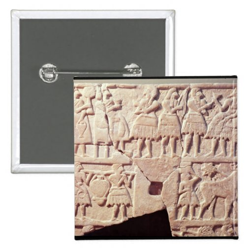 Votive plaque depicting an offering scene pin