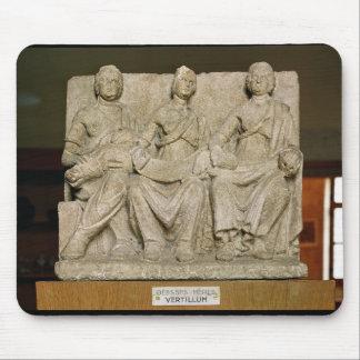 Votive sculpture of a triple mother deity mouse pad