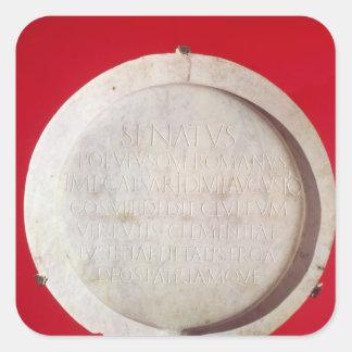 Votive shield in honour of Augustus Square Sticker