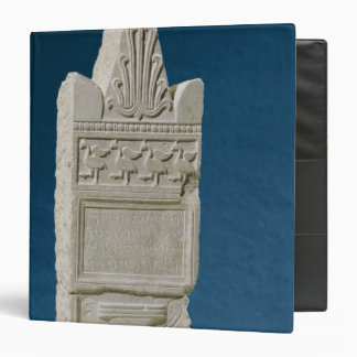 Votive stele with a triangular pediment binder