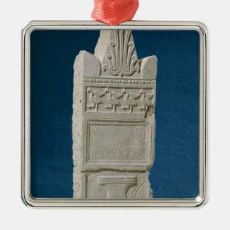 Votive stele with a triangular pediment metal ornament